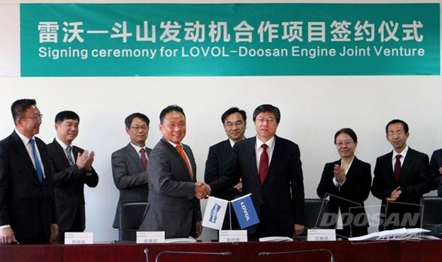 Doosan Infracore Establishes Joint Venture with Lovol, China's Biggest Agricultural Machinery Manufacturer